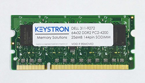 Keystron (DELL P/N 311-9272) 256MB DDR2 144Pin SODIMM Memory for DELL 2135cn MFC Laser Printer Memory