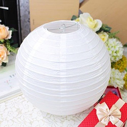 Paper Lanterns Wedding Decoration Ideas: [Novelty Place] Round Wedding White Paper Lanterns