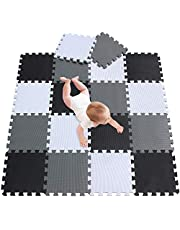 meiqicool Kids Foam Mat Non Toxic Crawl Mat Baby Tiles Play Puzzle Mat with Softer Thicker EVA Foam Mat for Kids Toddlers Babies Playrooms/Nursery Tummy Time and Crawling Style 18 PCS 101104112G