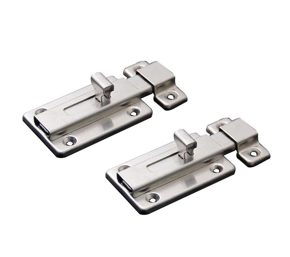 NELXULAS Stainless Steel Door Latch Sliding Lock Barrel Bolt (3-1/2'')