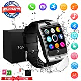 Smart Watch, Bluetooth Touchscreen Smartwatch with Camera Smartwatch Water Resistant Sports Fitness Tracker Support iOS iPhone Android Samsung LG for Men Women Kids