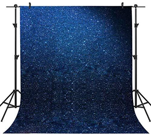 PHMOJEN 5x7ft Blue Backdrop Retro Photography Background Old Master Portrait Photo Backdrop Studio Props (Not Glitter) GEPH281