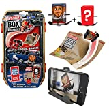Tony Hawk Box Boarders Action Pack - Riley Hawk and Mystery Tony Hawk Figure - Includes 2 Skaters, 4 Trick Ramps and 1 Camera Holder - Skate, Shoot, Share - Ages 4+