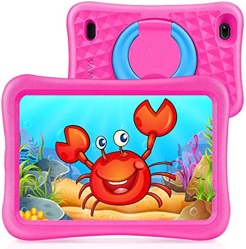 "VANKYO MatrixPad S8 8 inch Kids Tablet, 2GB RAM, 32GB ROM, Kidoz Pre Installed, 8"" IPS HD Display, Android OS, WiFi Tablet, Kid-Proof, Dual Camera, GPS, FM, Pink"