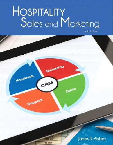 Hospitality Sales And Marketing With Answer Sheet  Ahlei   6Th Edition   Ahlei   Hospitality Sales And Marketing