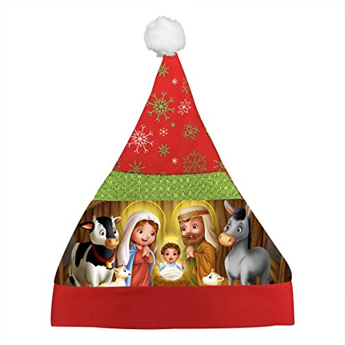 Tintin Costume Toddler (New Cartoon Christmas Day Hat Printed With Nativity Boys Girls Gift Party)