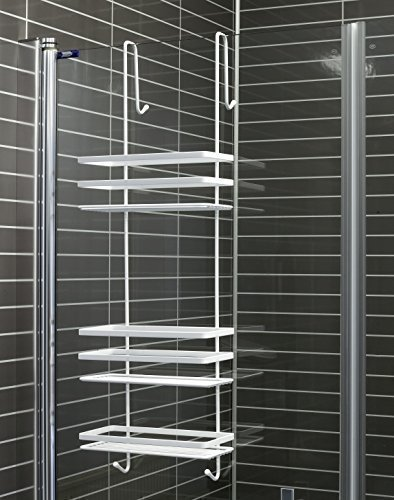 duschkabinen hängeregal 3 etagen in weiß ohne bohren duschablage ... - Hangeregal Dusche Rostfrei