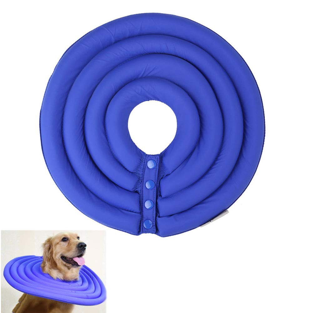 bluee XLDog and Cat Predection Inflatable Collar Easy to Eat And Drink Pet Resistant Suitable for Cats Faster Healing 6 Sizes 2 colors