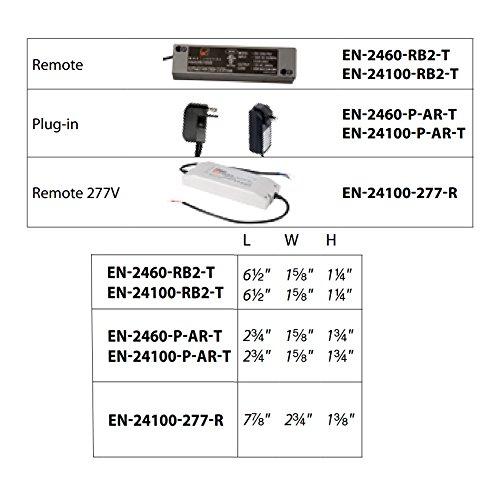 WAC Lighting EN-24100-277-RB2-T Remote Enclosed Electronic Transformer 277V Input 24V Output 100 Watt, Black by WAC Lighting