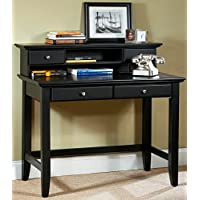 Home Style 5531-162 Bedford Student Desk and Hutch, Black
