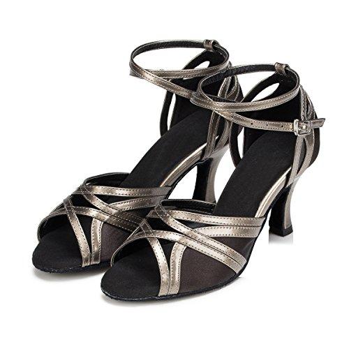 Miyoopark - salón mujer Grey/Black-7.5cm Heel
