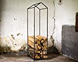 Firewood Holder. Storage box. Container for indoors. Raw style welded metal.