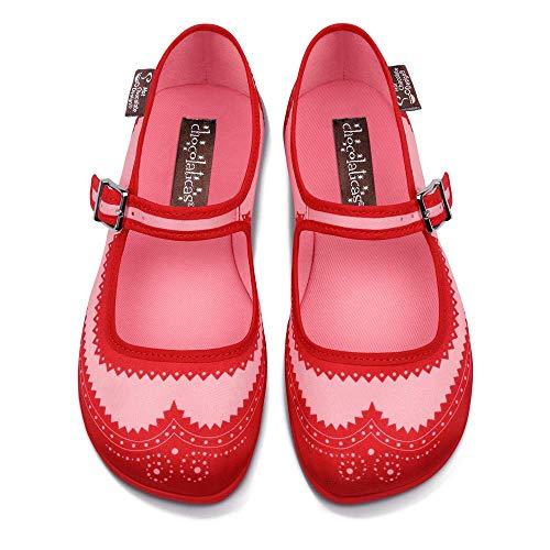 Jane Donna Hot Design Ballerine Basse Mary Chocolate Red Chocolaticas Habana Da 4p4Ofgq