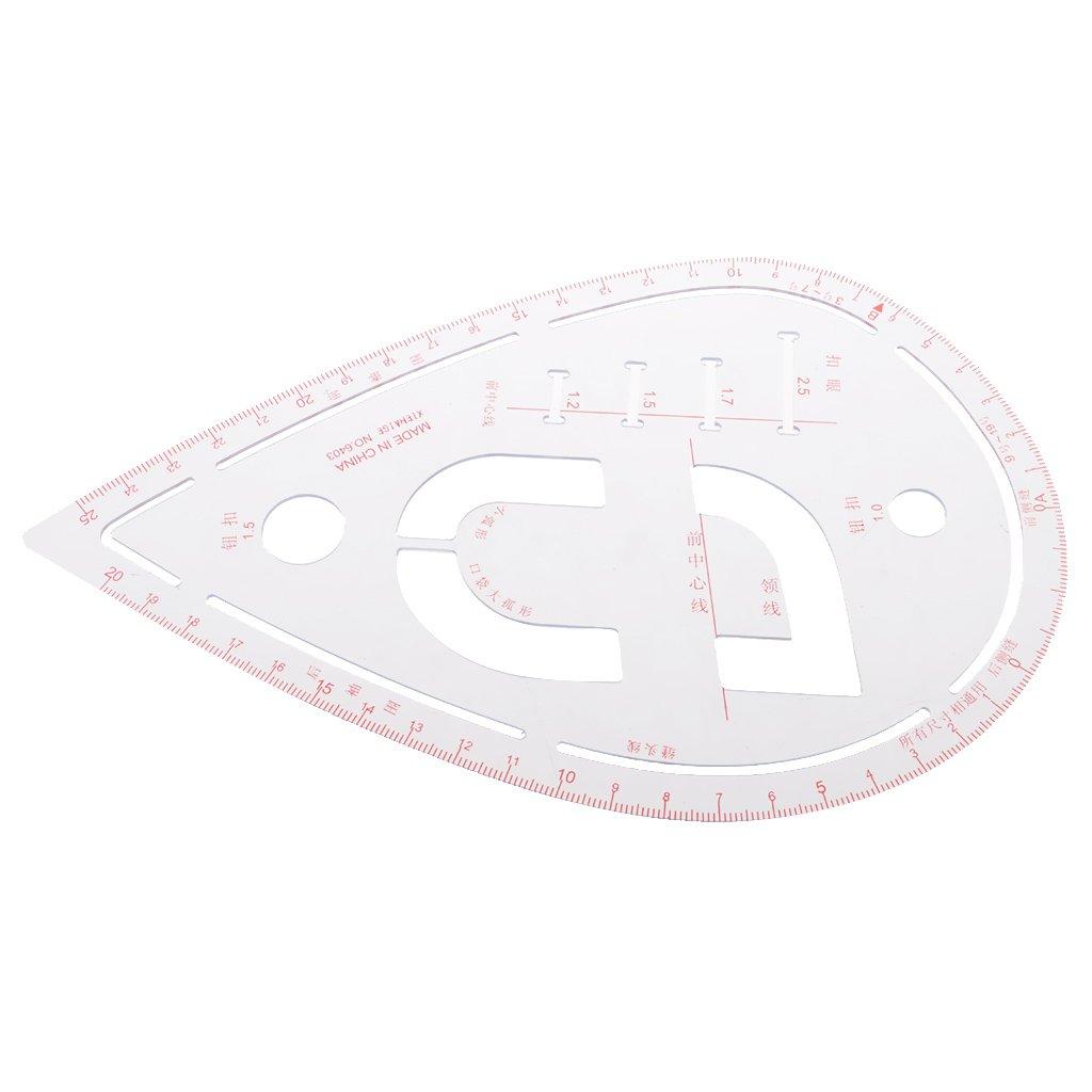 MagiDeal Righello Di Vestiario Righello In Plastica Per Cucire Sartoria Mestiere Fai Da Te 20.5x13.5cm