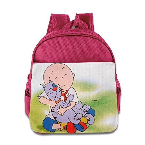 Caillou Season 1 Kids School Backpack Pink