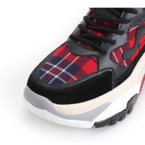Allenamento top Low Scozzese Primavera Corsa Yan Cross Sneakers Scarpe Tessuto Autunno Pelle In Casual Un Donna Trekking E Fitness Outdoor Da Ginnastica gg6OwqU