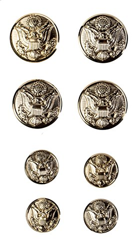 US Army Officer Male Button Set, ASU ()