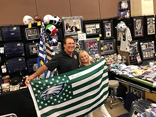 "Vince Papale Autographed Signed 3ftx5ft Philadelphia Eagles Flag Inscribed""You Are Invincible"" (The Cowboy House COA & Photo Proof)"