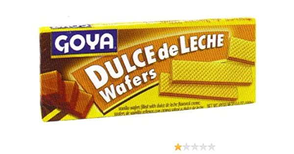 Amazon.com: Goya Dulce De Leche Wafers 5.6 oz - Wafers Con Sabor A Dulce De Leche