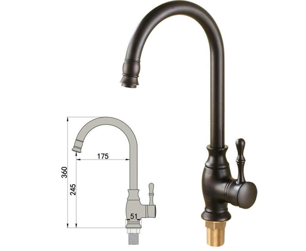 HhGold Wasserhahn Spüle schwarz Bronze Wasserhahn Wasserhahn Wasserhahn Europäischen Stil Wasserhahn heißen und kalten Wasserhahn Becken Wasserhahn Becken Wasserhahn 0b5a19