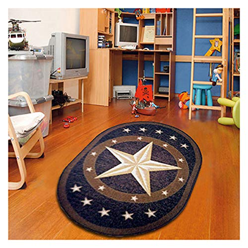 Furnish my Place 800 Texas Star 5'x7' Oval Area Rug, 4'4