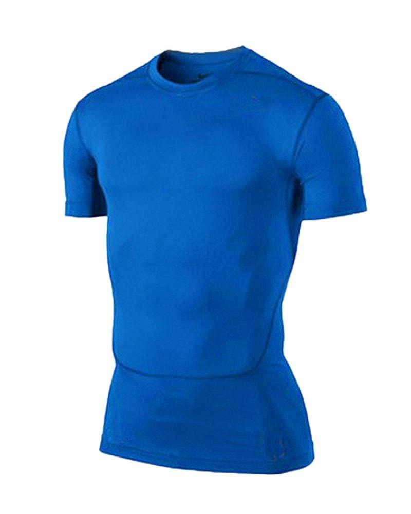 LaoZan Maillot Compression /À Manches Courtes T Shirt pour Homme Sports S/échage Rapide Baselayer Haut