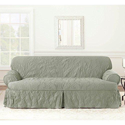 Sure Fit Matelasse Damask One Piece Sofa Slipcover