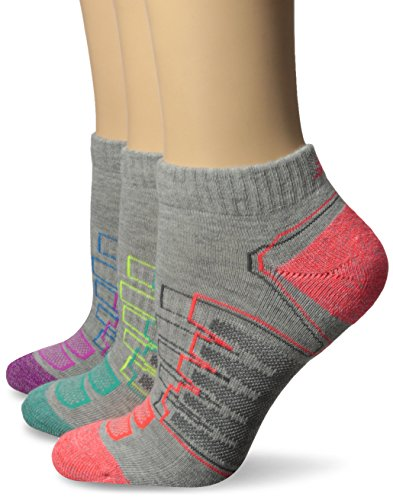 New Balance Women's Performance Low Cut Socks (3 Pack), Gray, 6-10