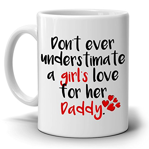 Fathers Day Gifts From Daughter to Daddy Dad and Papa Coffee Mug, Printed on Both - Co Voucher Uk Gift Amazon