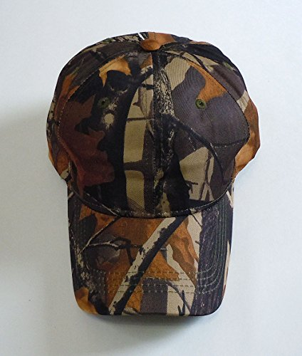 Camouflage Hat with Hardwood Pattern, 5 Colors to Choose From (Brown Camo)