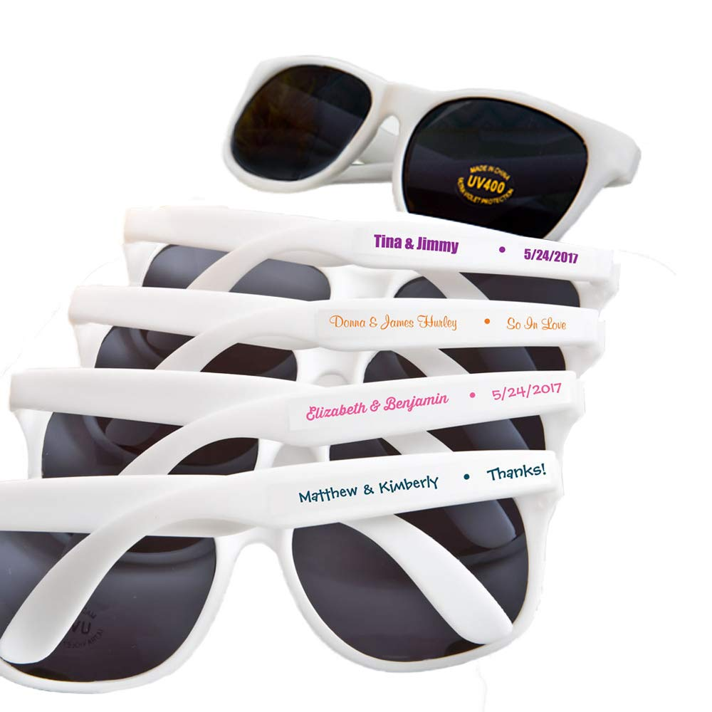 Fashioncraft, Custom Personalized Wedding Party Bridal Shower Favors Gift, Trendy Sunglasses, Set of 80