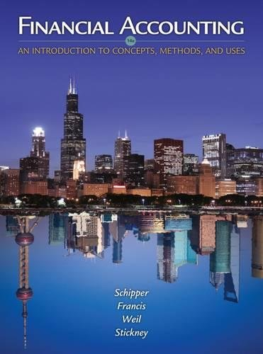 Financial Accounting: An Introduction to Concepts,