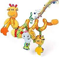 ORZIZRO Car Seat Toys, Baby Giraffe Plush Spiral Hanging Toys for Crib Bar Bassinet Stroller Car Seat Mobile