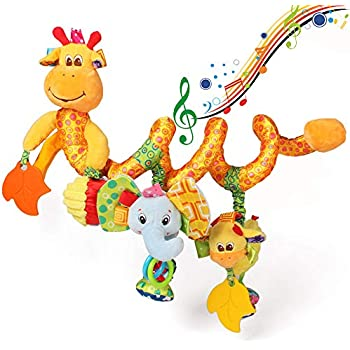 horseWEn Baby Activity Spiral Toys for Stroller Car Seat Crib Bed Mobile Hanging Toys Baby Rattles Toys