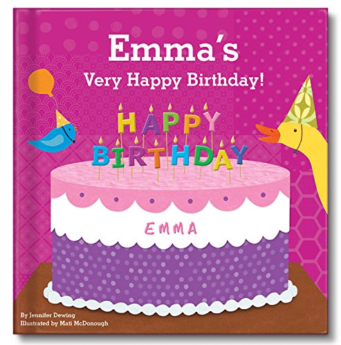 Happy Birthday Personalized Custom Name Book for Girls|
