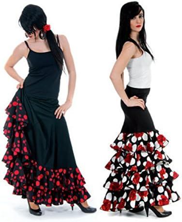 La Senorita Spanish Flamenco Skirt Deluxe for Women Adults with dots and volants