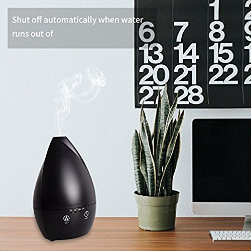 COSSCCI 200ML Aromatherapy Essential Oil Diffuser Humidifier, 200ML Touch Screen Ultrasonic Cool Air Mist Humidifier with Auto Shut-off, Timers Setting for Baby Bedroom Home Office