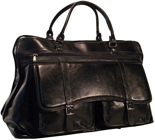 Bolsa Sacola De Viagem Em Couro Bennesh 9501 - Preto