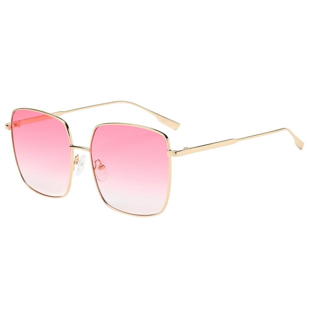 🌻Amlaiworld Mode Chic Metall Quadratischer Rahmen Sunglasses Party ...