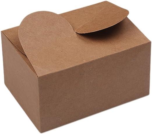 kentop caja de pastel kraft caja regalo cajas de dulces galletas ...