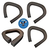 HQRP 4-Pack Air Conditioner Weatherstrip Seal for M-D Building Products 02535 Replacement, 2 1/8-Inch x 2 1/8-Inch x 43-Inch + HQRP Coaster