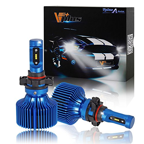 8400 Ram (Vplus LED Headlight Bulbs -2504 PSX24W 90W 8,400LM 6500K Seoul w/No Fan Headlamp Adjustable for Chrysler Dodge Journey Grand Caravan Durango Dart Charger Challenger Avenger Jeep Subaru Volkswagen)