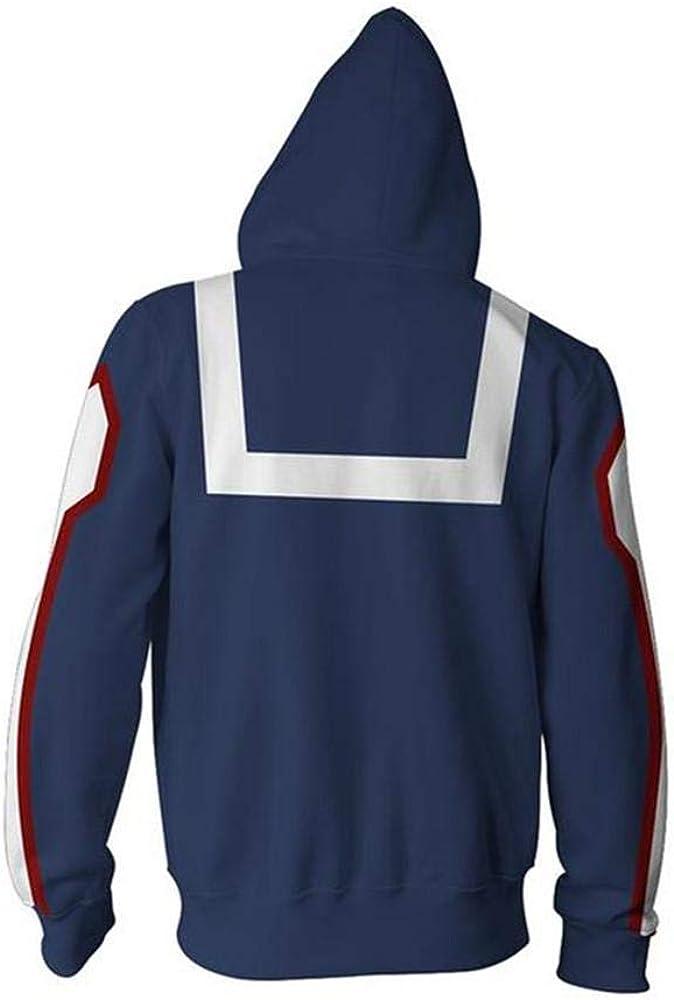 Rbop Felpa Animazione con Cappuccio Uomo Unisex Cosplay 3D Stampato Pullover Sweatshirt Sportive My Hero Academia Zipper XS-XXXL