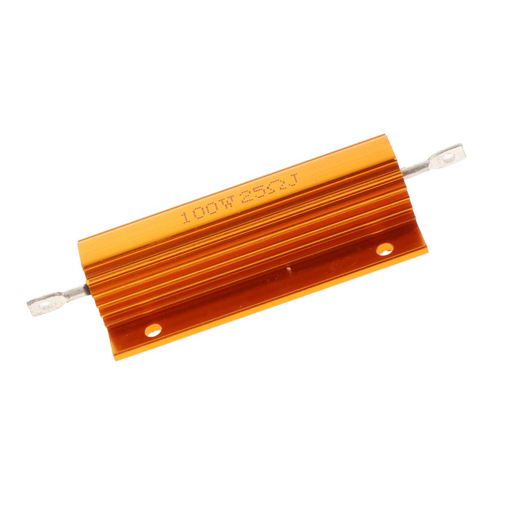 sourcingmap 50W 47 Ohm 5/% Aluminum Housing Resistor Screw Tap Chassis Mounted Aluminum Case Wirewound Resistor Load Resistors Green 2 pcs