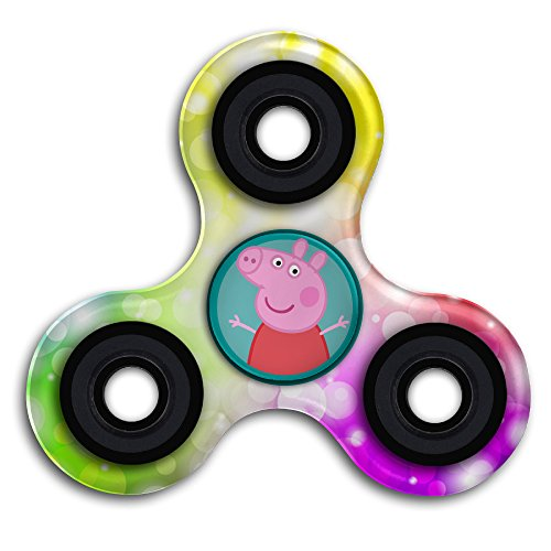 Cute Peppa Pig Icon Animated Series Tri-Spinner Fidget Hand Spinner Metal Toy