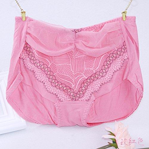ZHANGYONG*La Sra. ropa interior transpirable puntilla de tul Borde grabado sentido de transparencia en cintura dulce ropa interior femenina 3 puntos sin ...