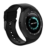 Bluetooth Smart Watch With Camera Touch Screen Smart Wrist Watch With Sim Card Slot Fitness Tracker Pedometer For Android Smartphone Samsung Sony Men Women Kids (Black)