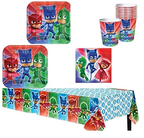 PJ Mask Party Supply Kit for 16 Guests -