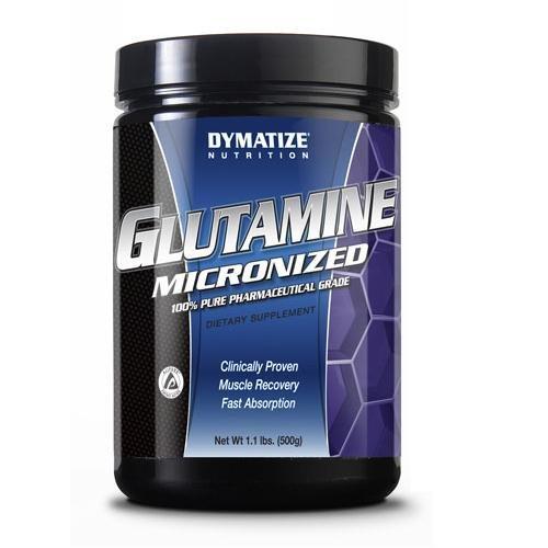 Glutamine micronisée, garder les muscles sains et forts, 500 grammes, De Dymatize
