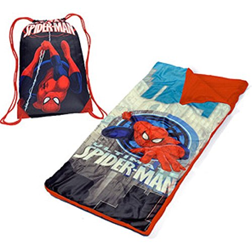 Sale!! Marvel Ultimate Spiderman Kids Toddler Sleeping Bag Sleepover Set